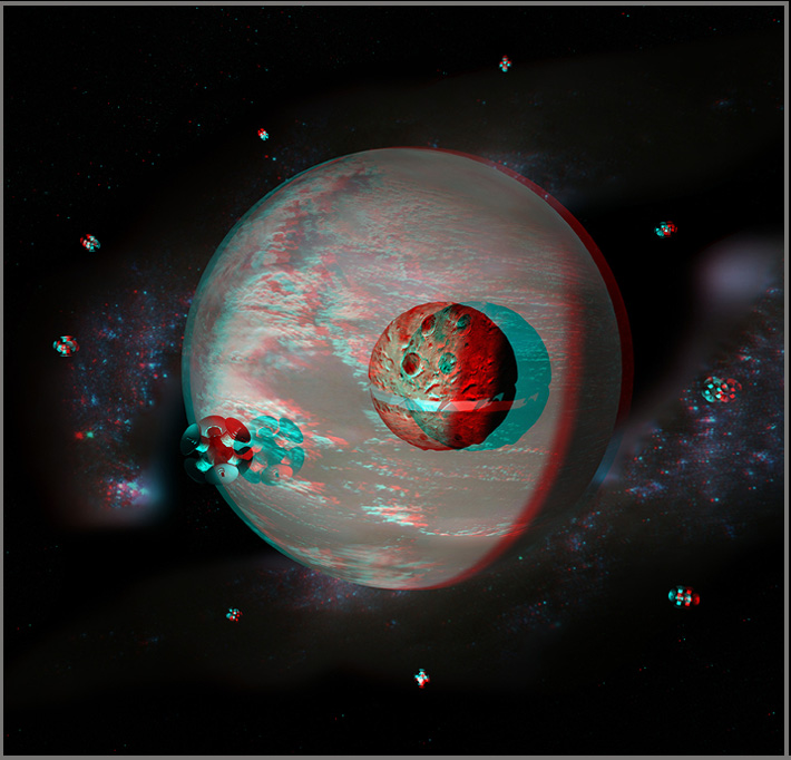 Norstrilia from space in stereo 3d for Space in 3d