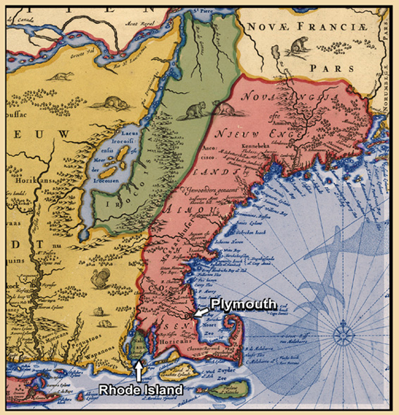 map of rhode island and massachusetts. Rhode Island and Plymouth