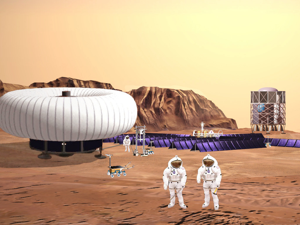 Humans arrive at Mars Robotic Outpost