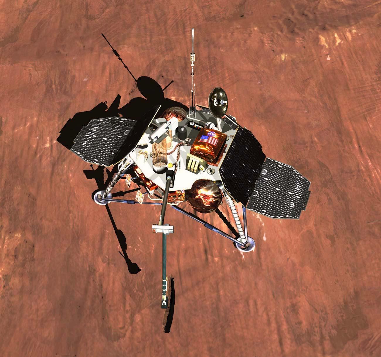 A mission of the mars polar lander